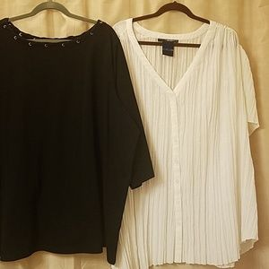 Plus size 32W blouses * Bundle of two